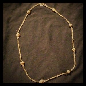 Gold knot tie necklace (T07)